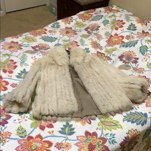 Fur coat-cream color